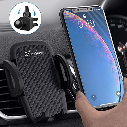 Avolare Handyhalterung Auto Handyhalter fürs Auto Lüftung Universal Handy KFZ Halterungen für iPhone Samsung Huawei Sony LG und mehere Smartphone oder GPS-Gerät (Matte Schwarz)