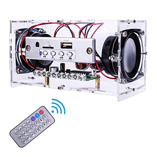 MiOYOOW Bluetooth Speaker DIY Kit with LED Flashing Light Soldering Project USB Mini Home Stereo Sound Amplifier DIY Kits for Leaning Electronic Soldering Home and School Education (LED Flashing)