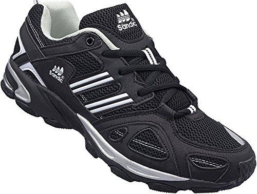 Herren Sportschuhe Sneaker Turnschuhe Schuhe Gr.41-46 Art.-Nr.1326 schwarz-weiß (44)