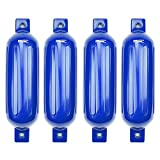 MSC Vinyl Ribbed Boat Fenders Bumpers (Blue, 5.5' x 20')