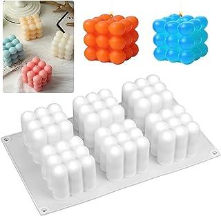 Moule Bougie Silicone, Moule Bougie 3D, pour la Fabrication de Bougies, Savon, Gâteaux, Chocolats, Partie Décoration de la...