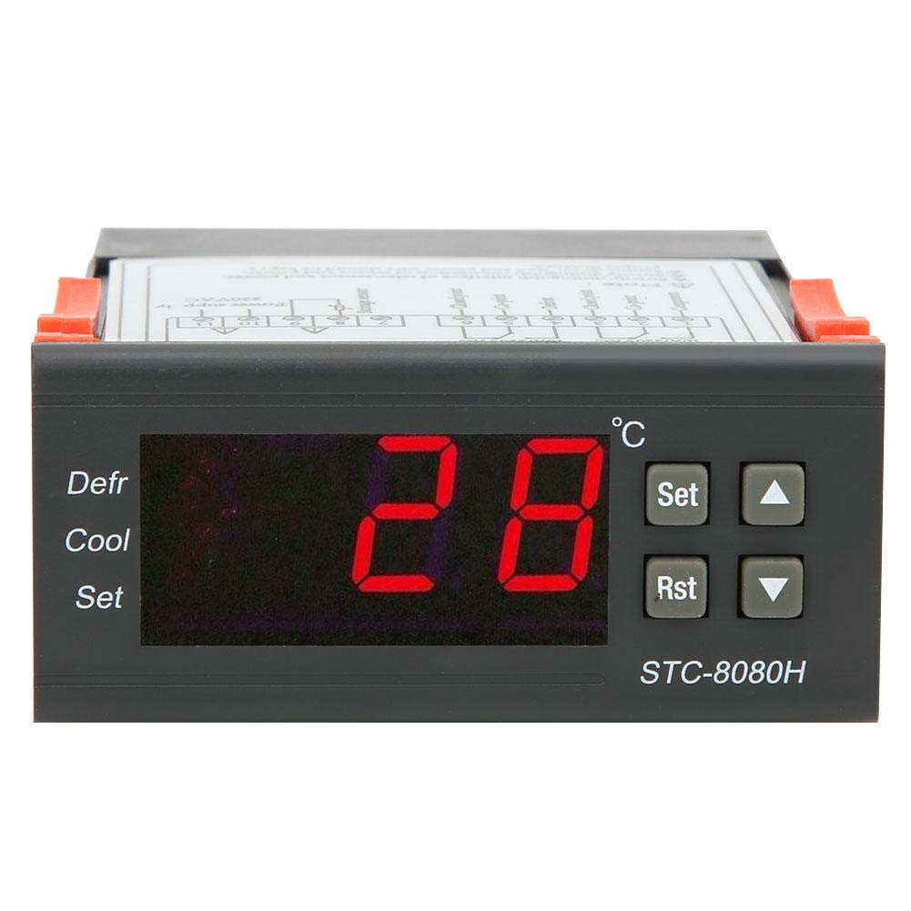 Digital Temperature Controller Our shop OFFers the best service 10A STC-8080H 2021 220VAC R Thermostat