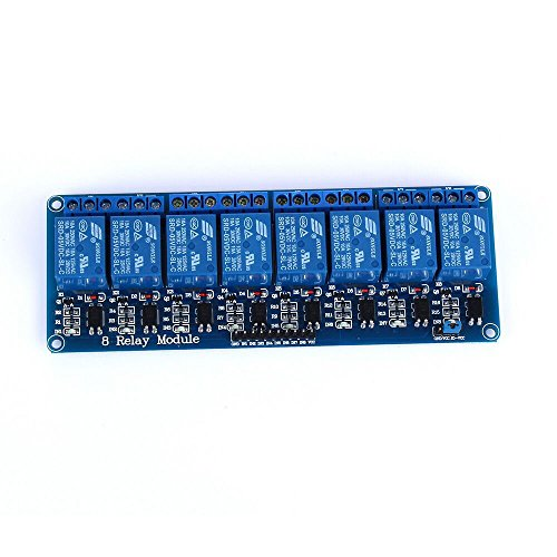 Preisvergleich Produktbild tinxi® 8 Kanal Relais Modul 5V DC 230V Optokoppler passend für Arduino Raspberry Pi