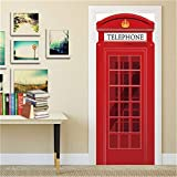 DFKJ Türaufkleber wasserdicht 3D Home Decoration Aufkleber Selbstklebende Tapete an der Tür DIY Home Wandbild Schlafzimmer A14 77x200cm