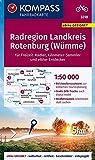 KOMPASS Fahrradkarte Radregion Landkreis Rotenburg (Wümme) 1:50.000, FK 3218: reiß- und wetterfest (KOMPASS-Fahrradkarten Deutschland, Band 3218)