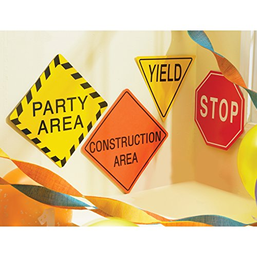 BirthdayExpress Construction Party Supplies -7' Traffic Signs