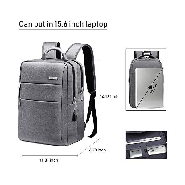 51p5KCjNneL. SS600  - Impermeable Mochila para Computadora, WAWJ Mochila Antirrobo para Hombre Escolares Laptop 15,6
