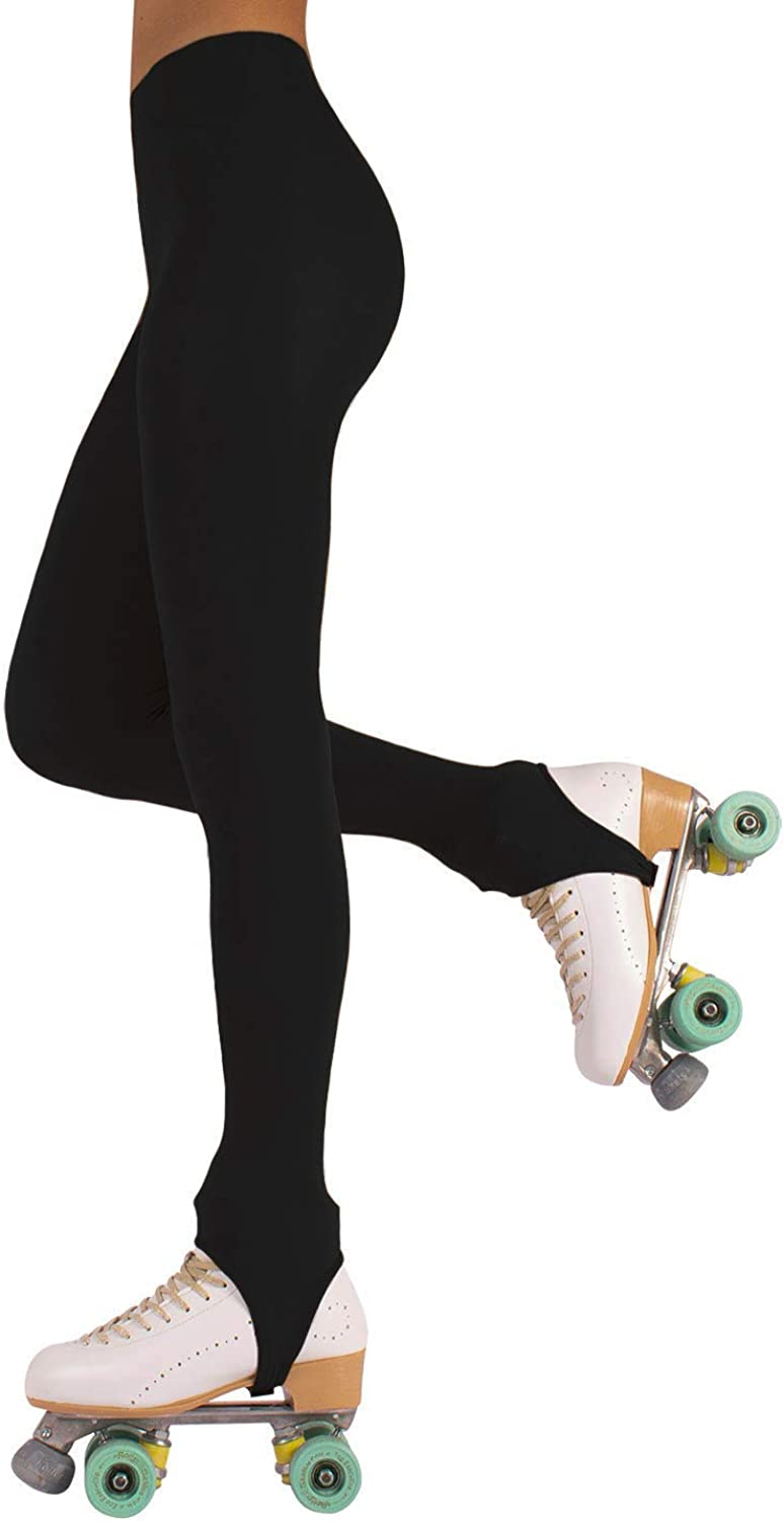 CALZITALY Womens Stirrup Skating Tights | Ice and Roller Skating Pantyhose | S, M, L | 70 DEN | Made in Italy