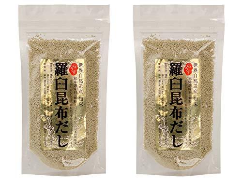 羅臼昆布だし 70g×2袋セット(顆粒タイプ)さっと溶けて使い勝手の良いラウスコンブダシ(北海道産らうすこんぶ使用の顆粒出汁)あっさりとおいしいコンブの風味を生かしたダシ
