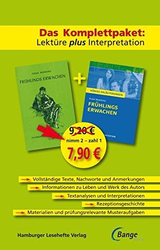 Frühlings Erwachen - Das Abi-Komplettpaket: Lektüre plus Interpretation. Königs Erläuterung mit kostenlosem Hamburger Leseheft