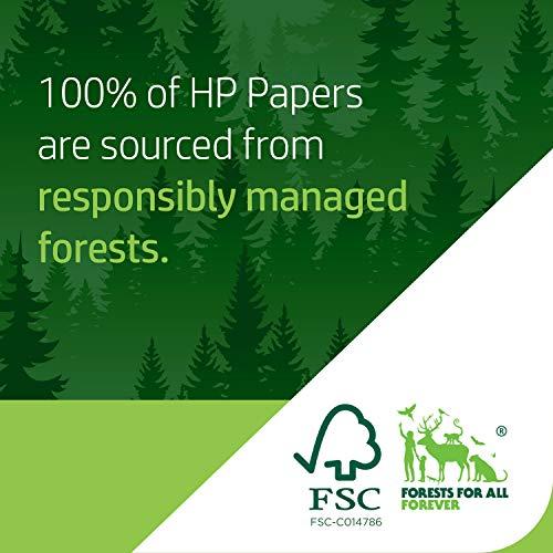 HP Printer Paper | 8.5 x 11 Paper | Premium 32 lb | 1 Ream - 250 Sheets | 100 Bright | Made in USA - FSC Certified | 113500R