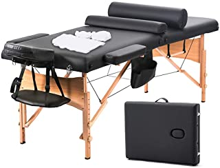 Massage Table Massage Bed Spa Bed 73 Inch Heigh Adjustable 2 Fold Portable Massage Table..