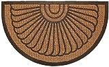 oKu-Tex Zerbino in Cocco semicircolare, Conchiglia, 45 x 75 cm halbrund