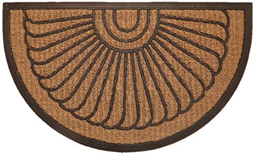"""Fußmatte """"Kokos"""" Struktur halbrund Design2"""