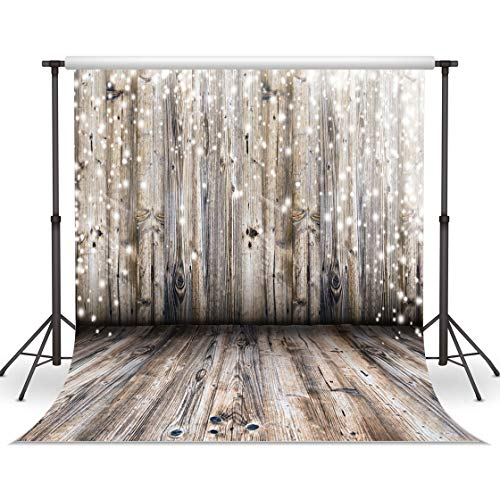 WOLADA 10x10FT Brown Wood Plank Photo Backdrop Rustic Backdrop Wood Photo Backdrop Vintage Backdrop Baby Shower Backdrop Birthday Party Background Wedding Backdrop Photo Booth Backdrops 10358