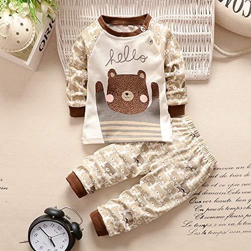 Baby Bär sweatshirt beige braun mit Hose für Baby ab 1 bis 4 Monat, Größe 70, Baby unisex junge kleine Mode Neugeborene
