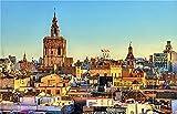 Bdhnmx Rompecabezas La Catedral de Valencia para Niños y Adultos Ofrece a los Niños Grandes Regalos Educativos 1000 Piezas Rompecabezas de Madera Divertidos