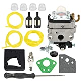 Coolwind Carburetor +Air Filter + Adjustment Tool + Fuel Filter/Line Tune Up Kit for 4 Cycle Engine GX31 GX22 FG100 16100-ZM5-803