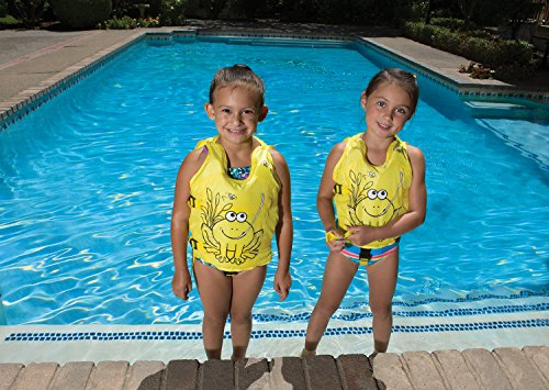 Poolmaster 50581 Learn-to-Swim Hungry Frog Kid's Swim Vest, 3-6 Years Old