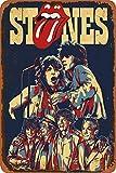 N/ A Rolling Stones Blechschild Retro Metall Wanddekor Tin