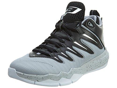 Nike Herren Jordan CP3.IX Basketballschuhe, Multicolore (Negro/Plata/Gris/Dorado (Blck/Mtllc Slvr-WLF Gry-pr PLT), 40.5 EU