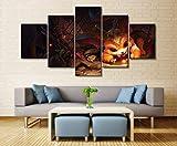 Imagen de arte de pared de 5 paneles Lo League League Legends Gnar Game Prints Canvas Pictures Oil Home Modern Decoration Print Decor Prints Image Posters