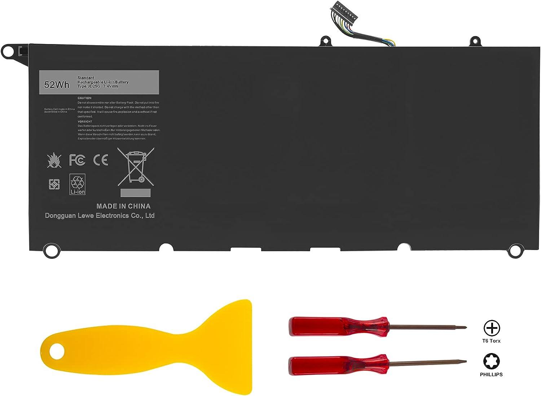 Futurebatt JD25G Battery for Dell XPS 13-9343 13-9350 13D-9343, Fits p/n 90V7W JHXPY 5K9CP DIN02 090V7W 0DRRP RWT1R 0RWT1R 0N7T6