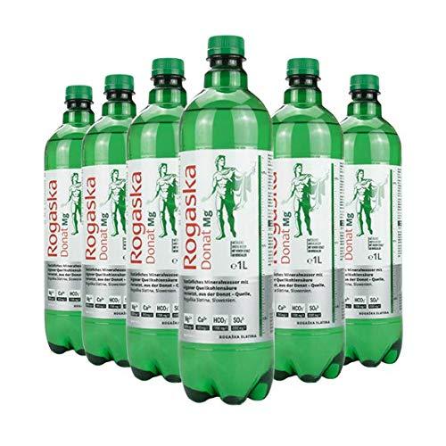Rogaska Donat Mg Mineralwasser inkl. Pfand, 1 L Flasche, 6er Pack