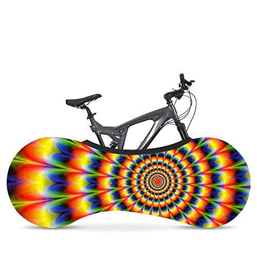 Delibest - Funda para bicicleta estampada con media cubierta elástica antipolvo, cubierta de rueda de interior, para bicicleta de montaña, para neumáticos de 26 a 28 pulgadas, ZXH-EU-20200714-6935, arco iris