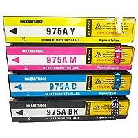 975Aインクカートリッジ、HP X452DN X552DW X477DN X452DW X477DN X452DW X477DW X477DW X477DN X452DW X477DW高収率交換用カートリッジ4色 Color