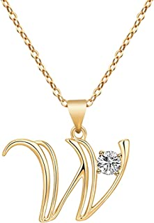 Initial Necklaces for Women,14K Gold Filled Handmade Dainty Sideways Letter Choker Necklace Gifts for Women Girls Boys Personalized Pendant Jewelry with Gift Box