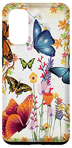 Galaxy S20 Wildflower Floral Flower With Butterflies And Autumn Leaves Case