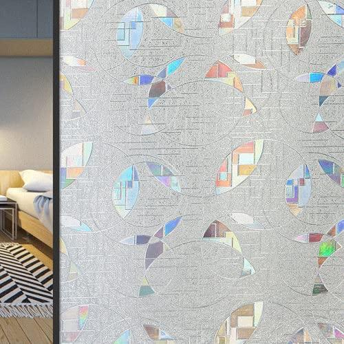 LMKJ 3D Colorful Irregular Shape Static Window Sticker Translucent Anti-UV Film Glass Sliding Door Window Sticker A56 60x100cm