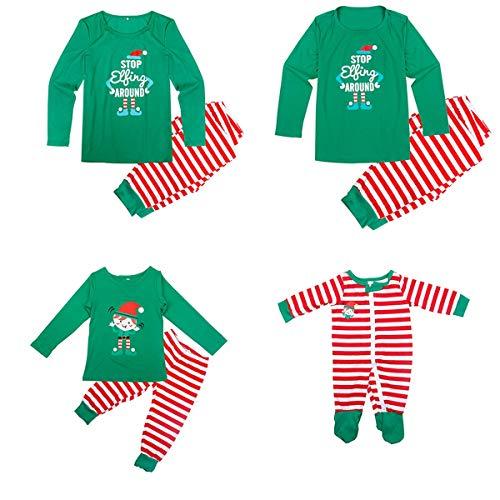 Conjunto de Pijamas a Juego de la Familia de Navidad para papá, mamá, niños, bebé, Ropa de...