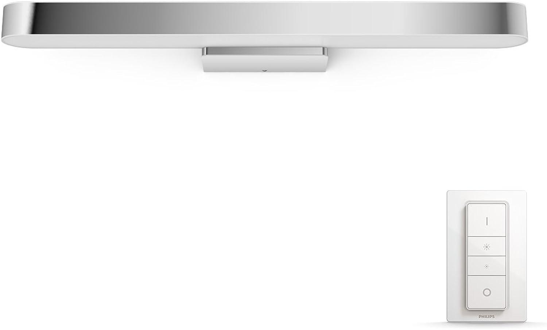 Philips Hue LED Spiegelleuchte Adore, dimmbar, alle Weischattierungen, steuerbar via App, kompatibel mit Amazon Alexa (Echo, Echo Dot), wei