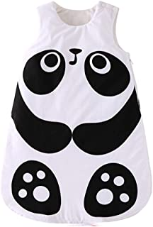 Adava Baby Sleeping Bag Winter Outdoor Cotton Wearable Blanket Cartoon Panda Styling Newborn Baby Swaddle Blanket Wrap for 0-3 Years Old Infant Toddler