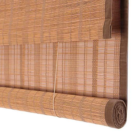 Rollläden, Sonnensegel für Fenstertüren, Rollläden aus natürlichem Bambus mit Volant, Geeignet für Küche/Teehaus, ZHANGAIZHEN (Farbe : Bamboo, größe : 100×200cm)