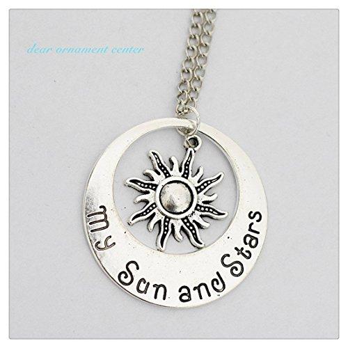 Encanto de sol y My Sun Estrellas de ADN–Pulsera de plata collar colgante Charm de My Sun ADN Neckalce de estrellas, collar de personalizar, grabado, Sun