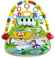 Mumoo Bear Baby Piano Fitness Playmat Newborn Educational Activity Play Gym Mat Toy