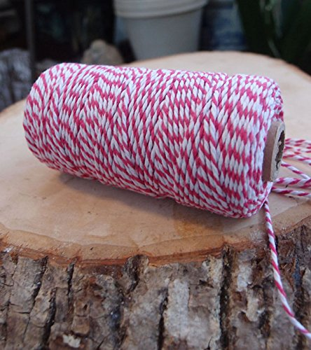 PaperLanternStore.com Fuchsia Bakers Twine Decorative Craft String (110 Yards)