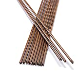 33' Bamboo Arrow Shaft DIY Wooden Arrows OD 7mm/8mm with Nocks for Archery Accessory Bow Arrow Hunting Target Practice 6/12pcs (OD 8mm, 6pcs)