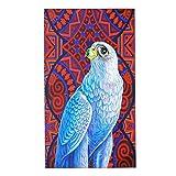 CIKYOWAY Toallas de Manos Halcón de pájaro Rojo Ave de Presa Halcón Halcón Gris Halcón Pájaro Rosa Pájaros voladores voladores Toalla Facial Toalla de baño pequeña para Viajar a casa 40x70cm