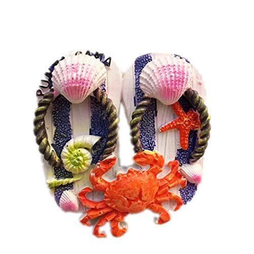 Zapatillas de República Dominicana 3D Imán de nevera Artesanía Recuerdo Resina Refrigerador Imanes Colección Regalo de viaje