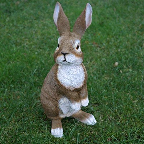 Dekofigur Hase Kaninchen Tierfigur Gartenfigur Wildkaninchen Zwerghase Ostern
