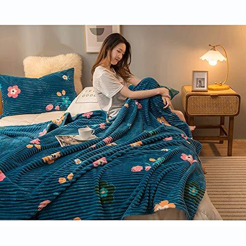 KPSHY Flanell Lamm Wolle Decke Cartoon 3D Vier Jahreszeiten Geschenke Warme Reise Camping Bett Sofa Wohnzimmer Schlafsaal Auto Kinderzimmer Klimatisiertes Zimmer Büro 150 * 200cm
