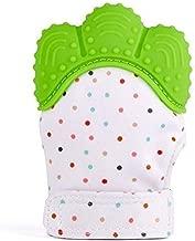 قفازات سيليكون تسنين اليد للأطفال BPA- قفازات قفازات تسنين الأطفال لتخفيف آلام اللثة وآمنة، قابلة للتعديل، قابلة للغسل، قفاز نوبي للرضع والأطفال الصغار، قطعة واحدة للجنسين خضراء للأولاد والفتيات