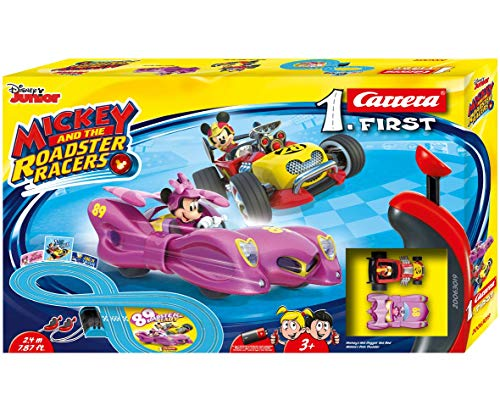 Carrera FIRST Disney Mickey and The Roadster Racers - Minnie 2,4 Meter 20063019 Autorennbahn Set ab 3 Jahren