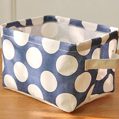 greenwoodner Zakka Fresh Polka Dot Baumwolle Hanf Aufbewahrungskorb Blau liefert täglich Gesundheits- und Schönheitspflegeprodukte