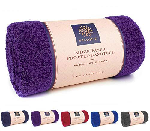 Microfaser Handtuch Frottee XXL, Gym, Yoga-Handtuch, Fitness-Handtuch, Sport-Tuch (Pink, Lila, Violett, 100 x 200 cm)