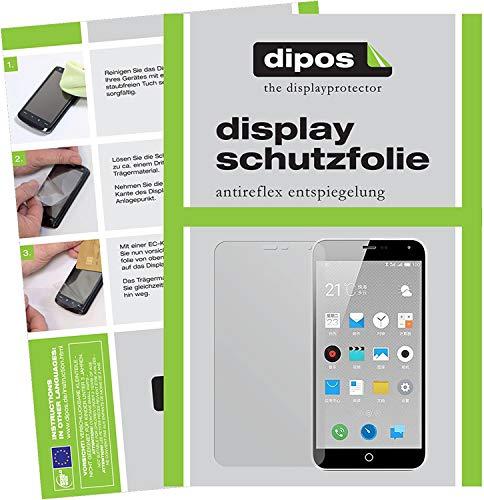 dipos I 6X Schutzfolie matt kompatibel mit Meizu M5 Note Folie Bildschirmschutzfolie
